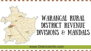 Warangal Rural District Revenue Divisions  & Mandals