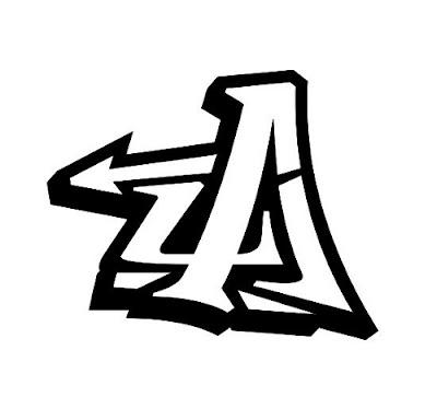 graffiti schrift,graffiti letter A,graffiti abc