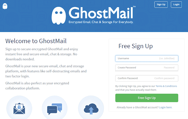 how to create email without phone number using ghostmail
