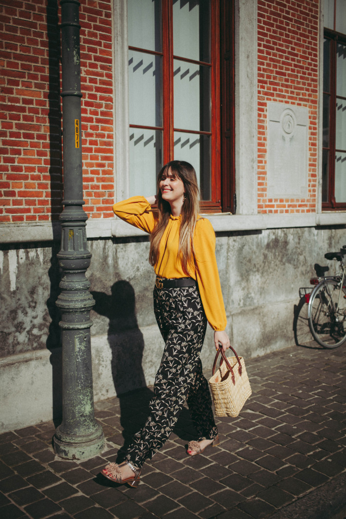 Outfit: first of spring in Anonyme palazzo pants