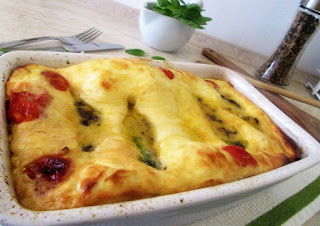 Baked zucchini with filling