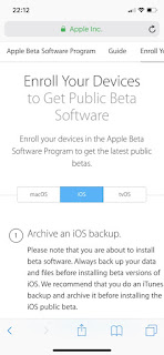 iOS 12 public beta enroll