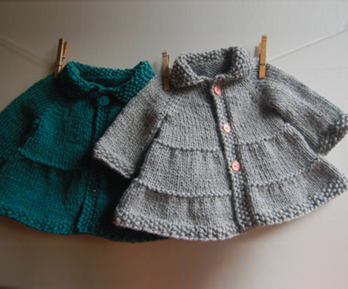 Tiered Baby Coat & Jacket - Knit Pattern