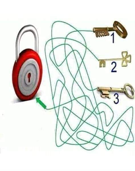 Key Lock Find the Way Puzzle