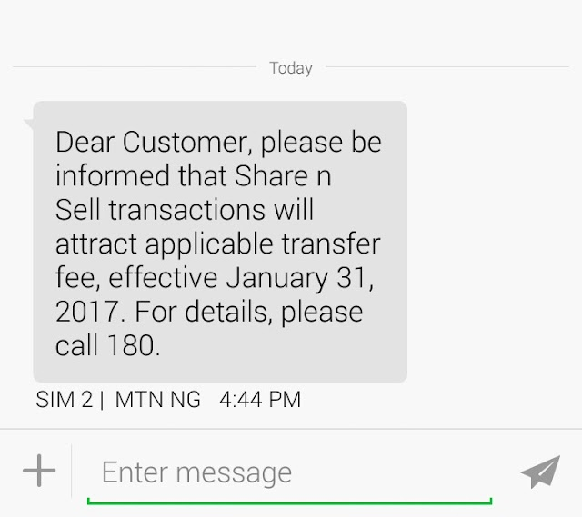 MTN To Start Charging Fee On Share 'N Sell Transactions