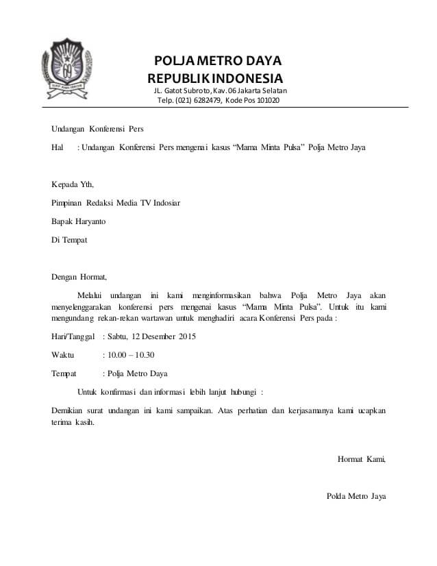 Contoh Surat Formal Perusahaan Suratsuratxyz