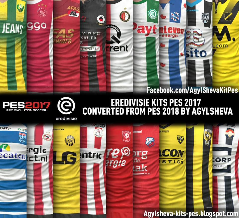 Eredivisie Kits Pes 2017 Converted From Pes 2018 By Agylsheva