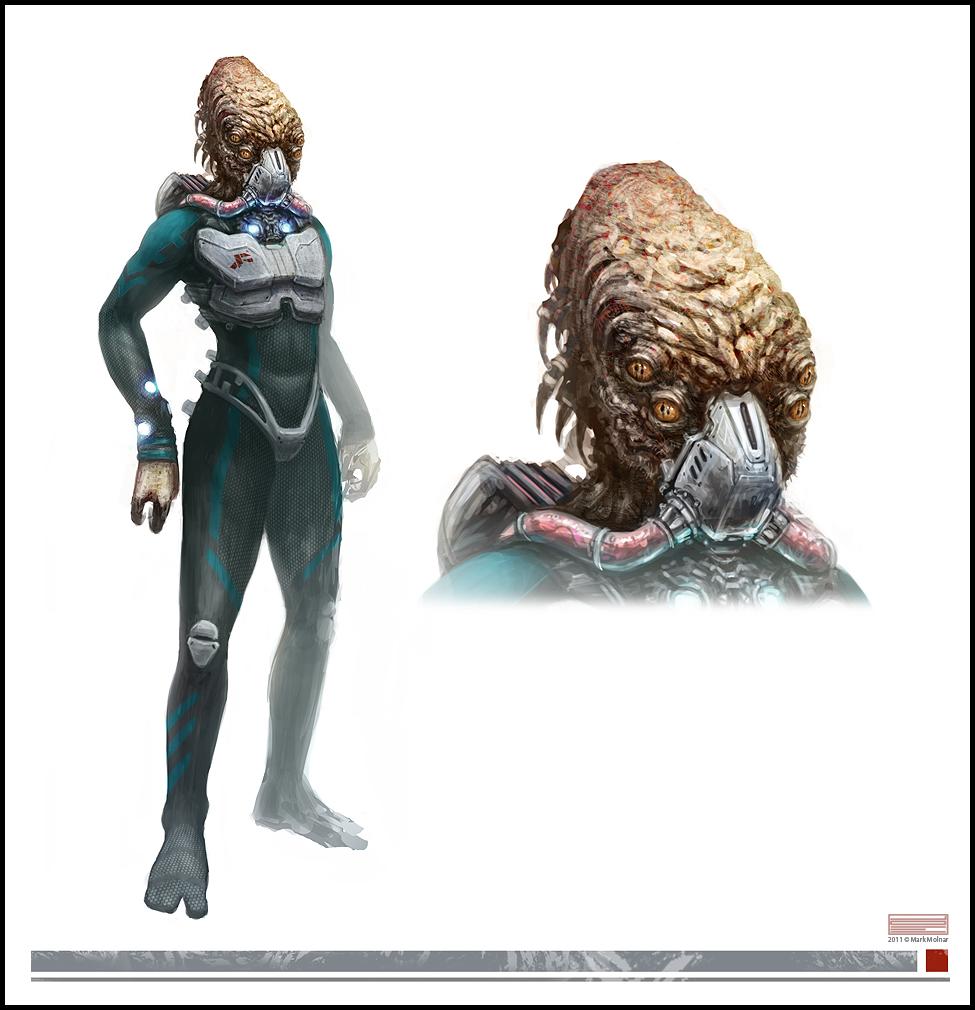 Mass Effect Weapons Concept Art