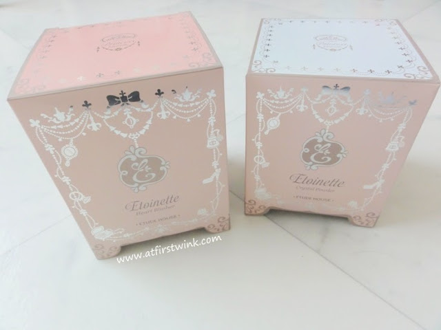 Etude House Etoinette Crystal Powder and the Heart Blusher PK001 Pink Petal Kiss boxes