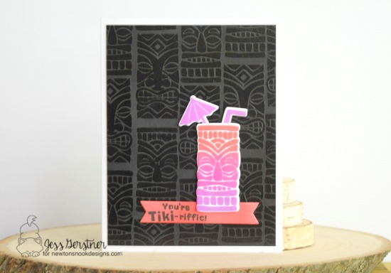 Tiki Tropical Drink card by Jess Gerstner | Tiki Time stamp set by Newton's Nook Designs #newtonsnook