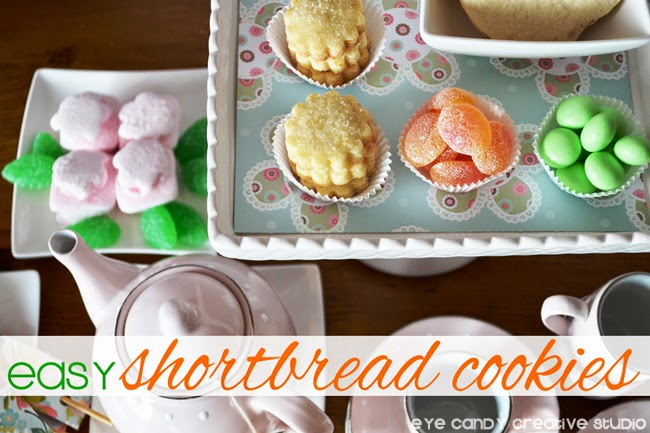 shortbread, candies, tea pot, how to make, recipe, marshmallow flowers