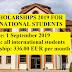 KU SCHOLARSHIPS 2019 FOR INTERNATIONAL STUDENTS