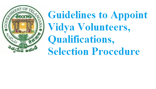 Vidya Volunteers Qualifications and Selection Procedure GO Rt 97 Complete guidelines to appoint Vidya Volunteers VVs in Telangana