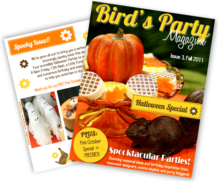 Bird's Party Magazine now in print
