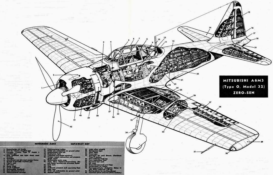 a6m zero cockpit coloring pages - photo #34