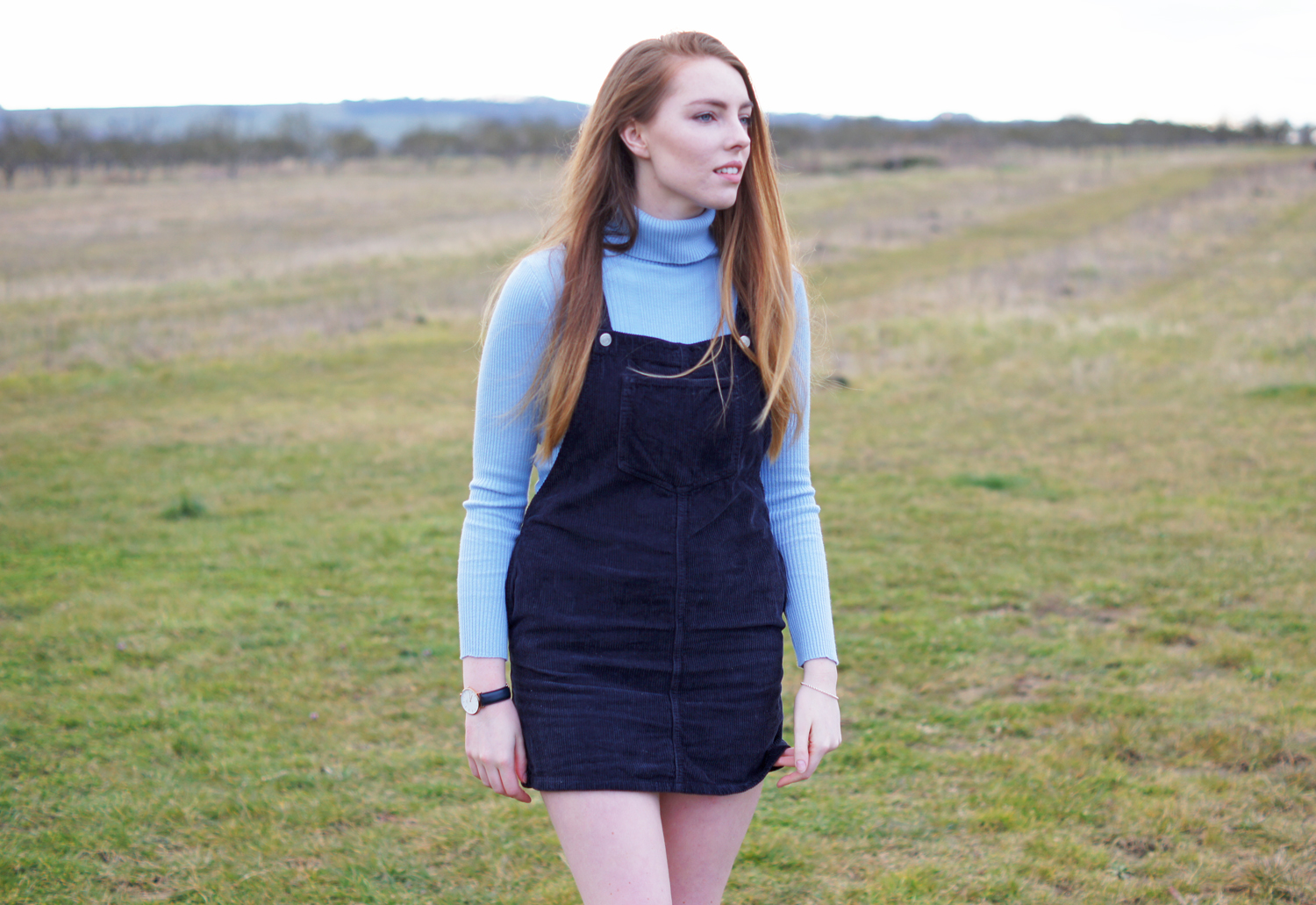 cord dungaree dress topshop