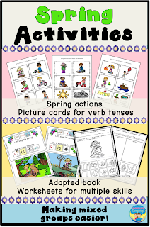 Have some spring literacy fun with this adapted book activity set from Looks Like Language!