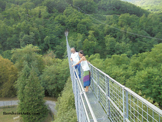 Ironworks Suspended Bridge, near Abetone, Italy
