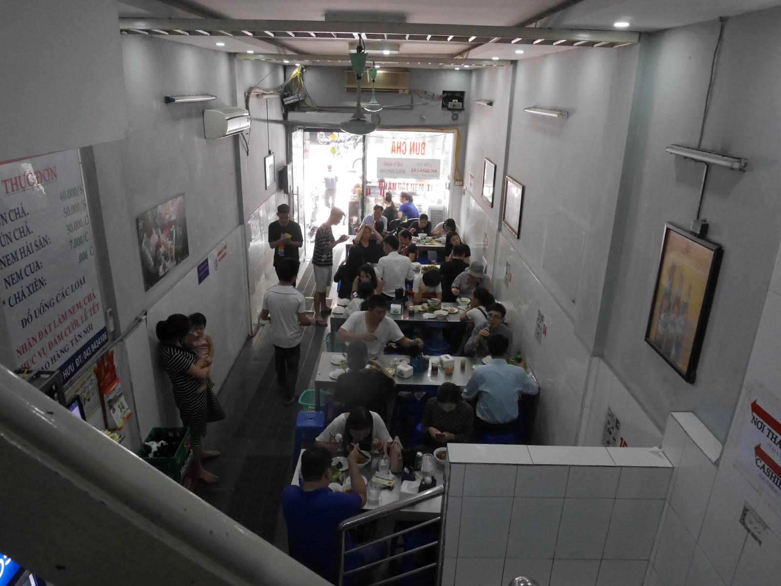 Inside bun cha huong lien shop