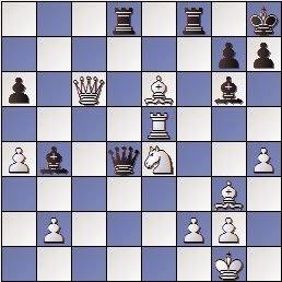 Partida de ajedrez Pomar vs. Farre, posición después de 25…Tad8, XIII Campeonato de España por equipos Sevilla, 1969