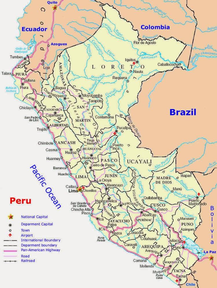 Peru | Mapas Geográficos do Peru