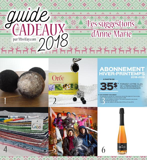 Guide cadeaux 2018 | MissVay.com