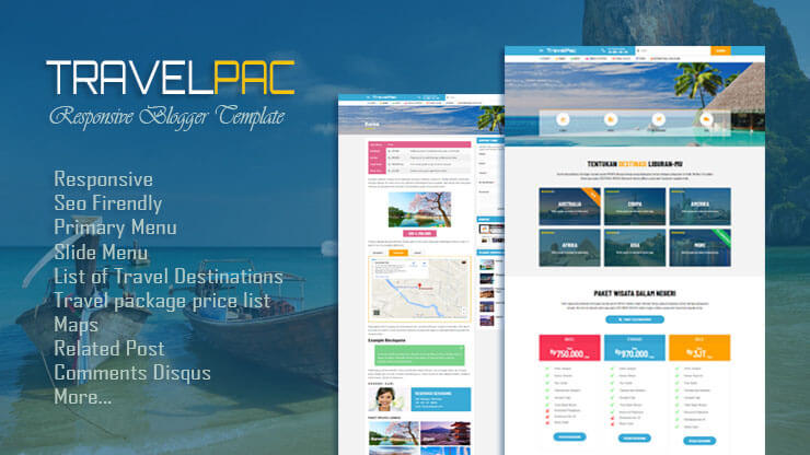 TravelPac Responsive Blogger Template
