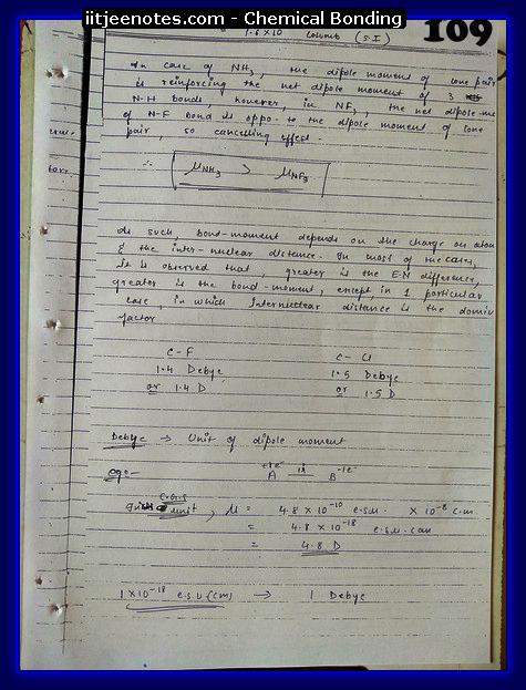 Chemical-Bonding Notes class 11-13
