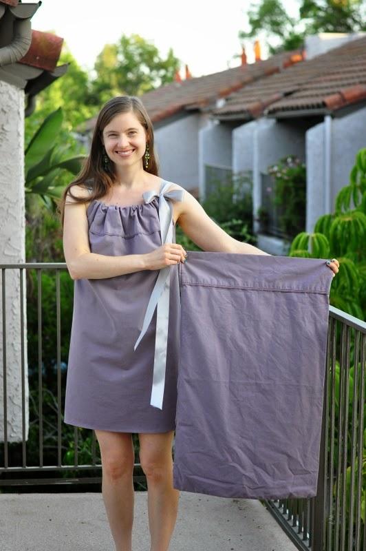 vestidos, funda almohada, bricomoda, refashion, labores