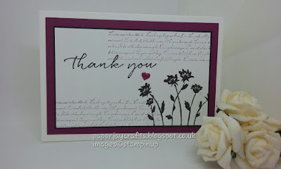 paperjay Crafts, Background Bits, Rich Razzleberry, Thank You Cards