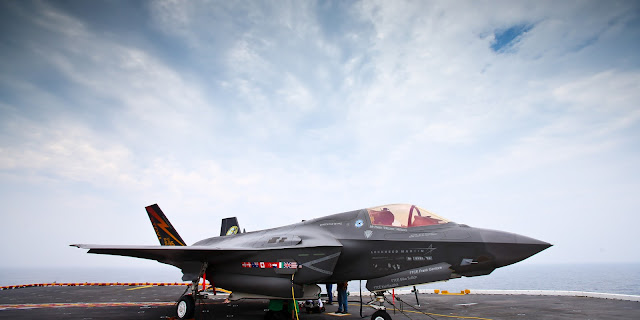F-35 Lightning II STVOL on USS Wasp