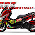 Motor, Cutting Sticker, NMAX, Decal, shark