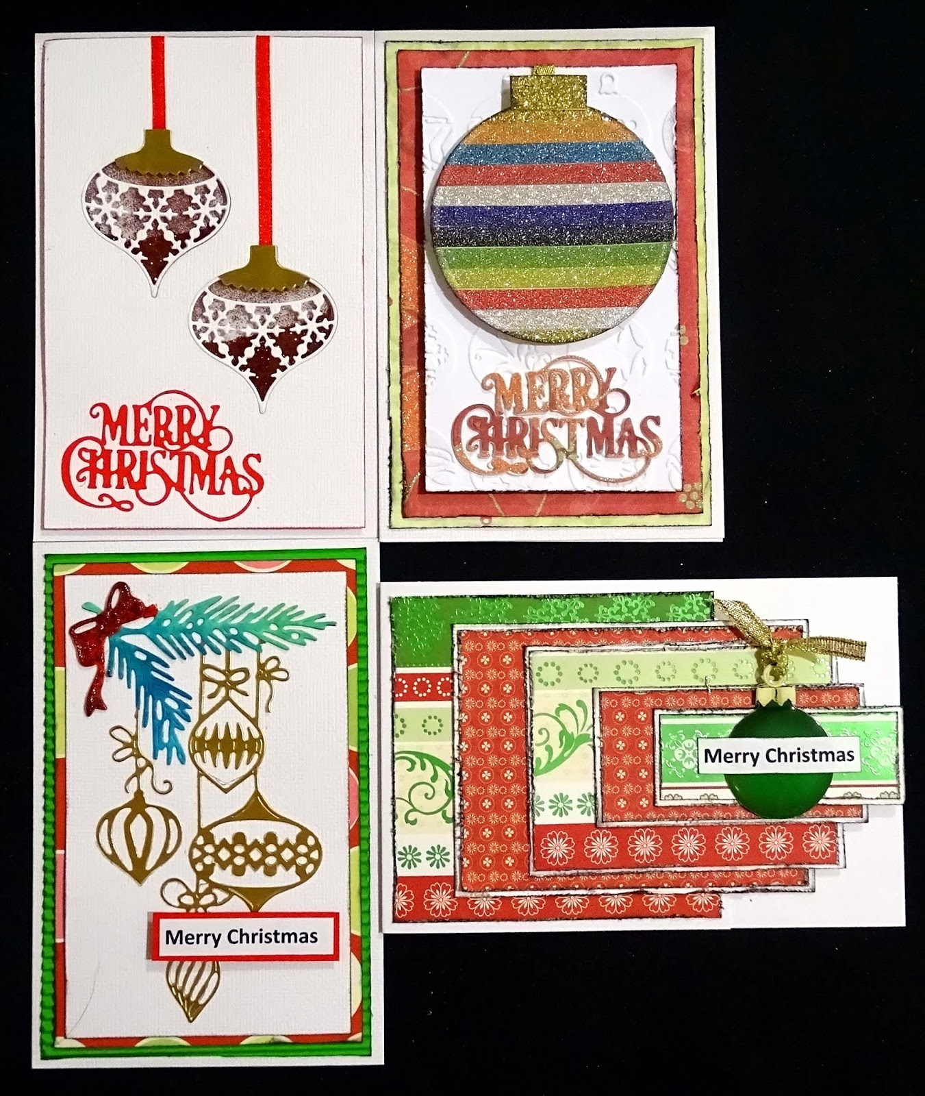 Julie\'s Papercraft: Christmas Cards Group 3