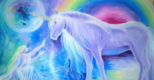 The legend of the unicorn painting