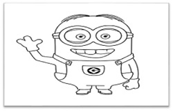 Minions Drawing step by step