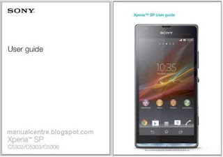 Sony Xperia SP Manual  Cover
