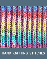 Learn Two-Color Brioche Pattern with our easy to follow instructions at HandKnittingStitches.com