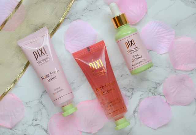 Pixi Beauty Rose Flash Balm Caviar Essence Rose Oil Blend Review