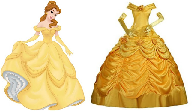 Disney Inspired prom dresses to wear beauty and the beast belle yellow ball gown