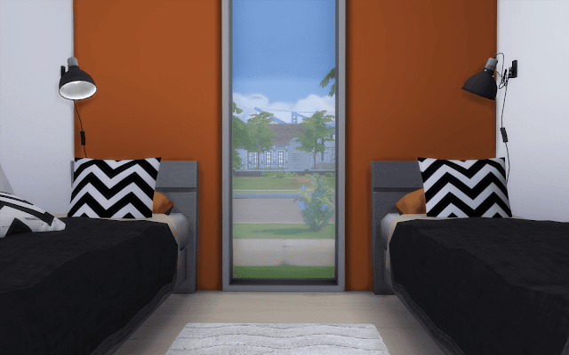 maison 2 chambres sims 4