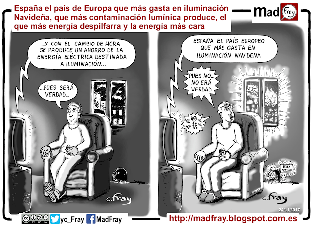España, el mayor foco de contaminación lumínica y de mayor gasto energético en iluminación de Europa