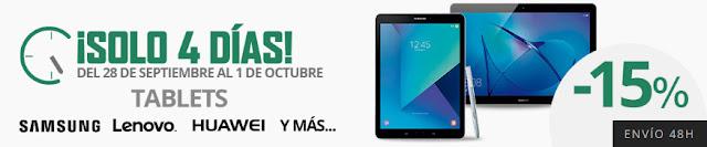 ¡Solo 4 días! -15% adicional en tablets de El Corte Inglés