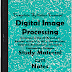 Digital Image Processing (DIP) PDF Study Materials cum Notes, Engineering E-Books Free Download