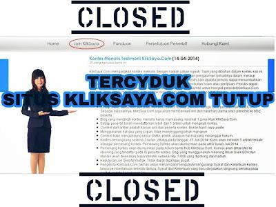 Situs Kliksaya.com Tidak Bisa di Buka atau di Akses Lagi