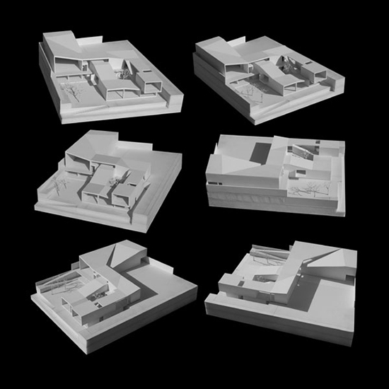 desain miniatur bangunan modern