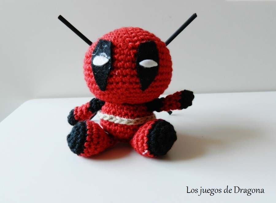 DEADPOOL AMIGURUMI TEJIDO A CROCHET 2/2   Crochet, Couture, Patron   663x900
