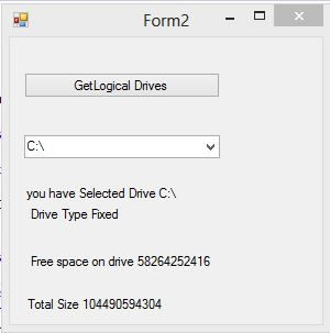 How to Access drive information in c#