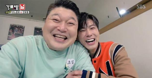 La diferencia en el tamaño de la cabeza de Yunho y Kang Ho Dong de TVXQ asombra a los internautas