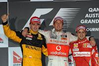 Robert Kubica Jenson Button Felipe Massa 2010 Australia F1