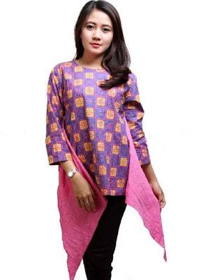 65+ Desain Baju Batik Wanita Modern Kombinasi Terbaru 2021 ...